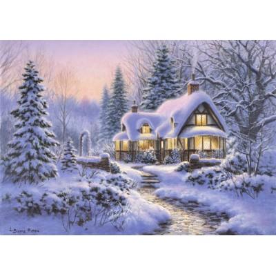 Puzzle Bluebird-Puzzle-70066 Winter's Blanket Wouldbie Cottage