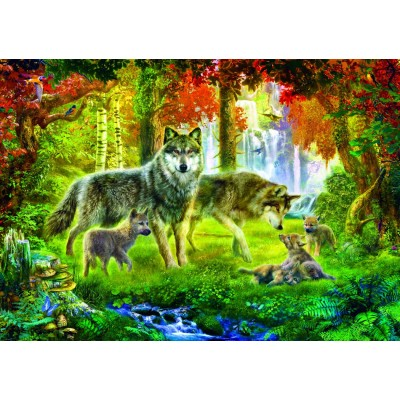 Puzzle Bluebird-Puzzle-70156 Summer Wolf Family