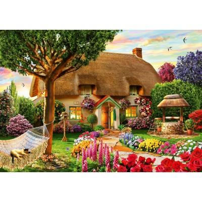 Puzzle Bluebird-Puzzle-70319-P Thatched Cottage