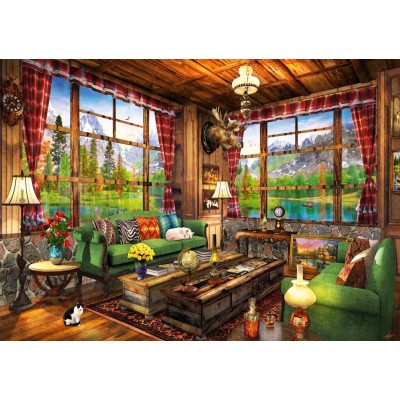 Puzzle Bluebird-Puzzle-70336-P Mount Cabin View