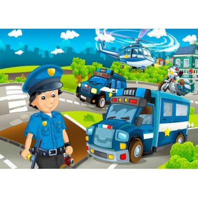 Puzzle Bluebird-Puzzle-70363 Police Rescue Team